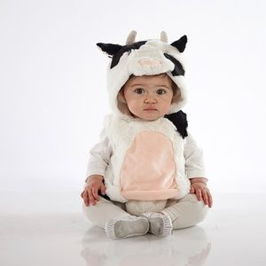Pottery Barn Cow Costume 0-6 Months